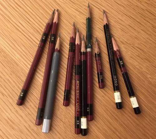 つないだ鉛筆たち
