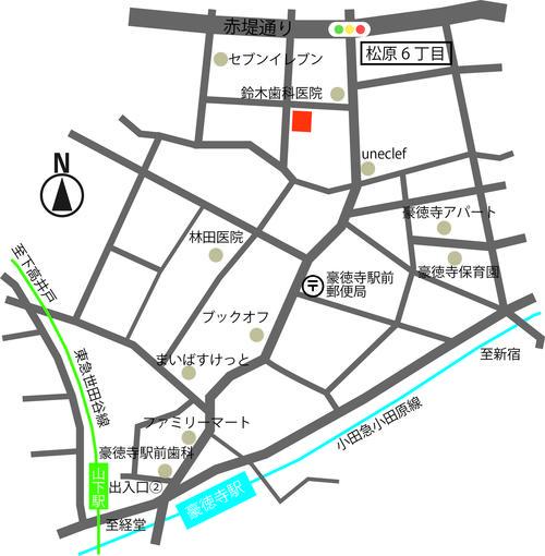 豪徳寺地図